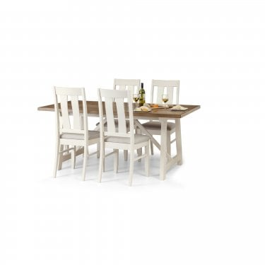 Pembroke Ivory & Oak Dining Table