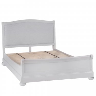 Penny Double Bed, Soft Grey