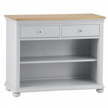 Penny Small 2 Drawer Bookcase, Soft Grey