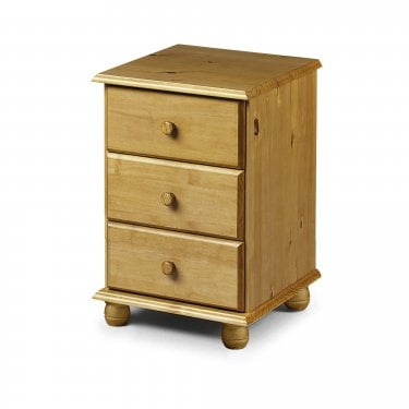 Pickwick Antique Pine 3 Drawer Bedside Cabinet