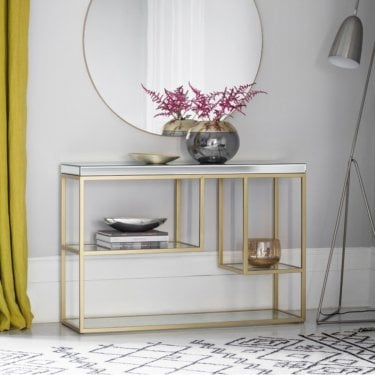 Pippard Console Table, Champagne