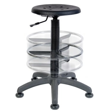 Polly Black Deluxe Draughter Stool