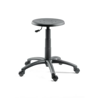 Polly Black Draughter Stool with Nylon Base