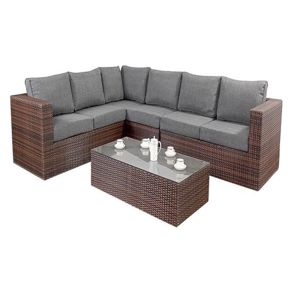 Port Royal Garden Furniture Prestige Brown Large Corner