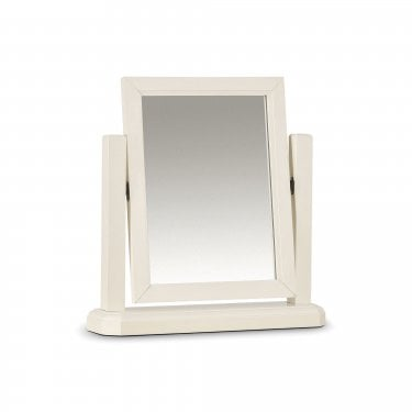 Portland Stone White Dressing Table Mirror