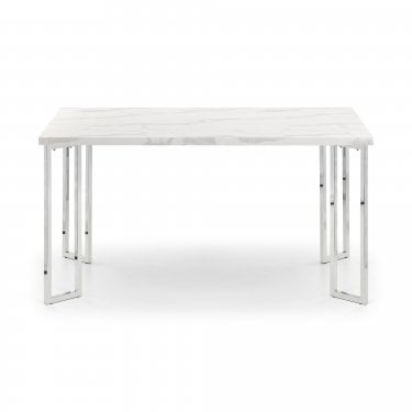 Positano White Marble Dining Table