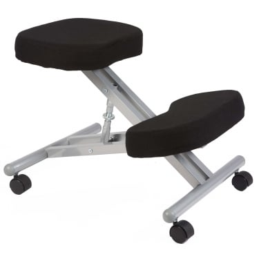 Posture Black Kneeling Stool with Steel Frame
