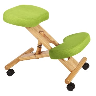 Posture Lime Green Kneeling Stool with Wooden Frame
