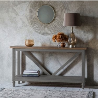 Potter Console Table, Grey & Smoked Oak