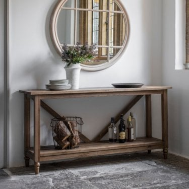 Potter Console Table, Smoked Oak