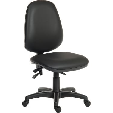Practica Black PU Operator Chair with Steel Base