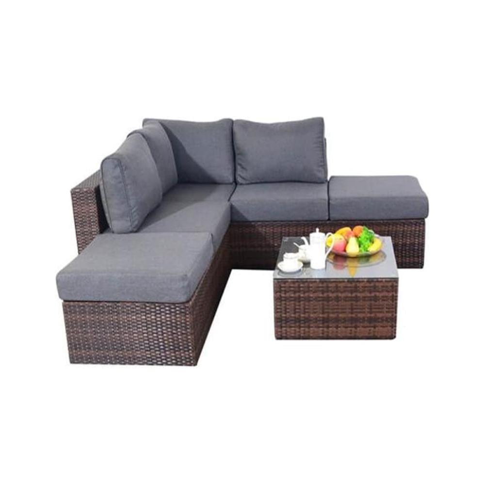 Wholesale garden furniture prestige brown small corner for Wholesale garden furniture