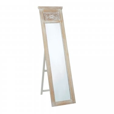 Provence Mirror, Weathered Oak