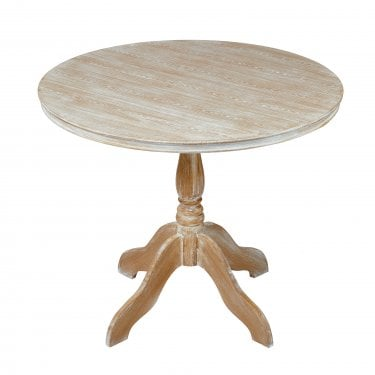 Provence Round Dining Table, Weathered Oak