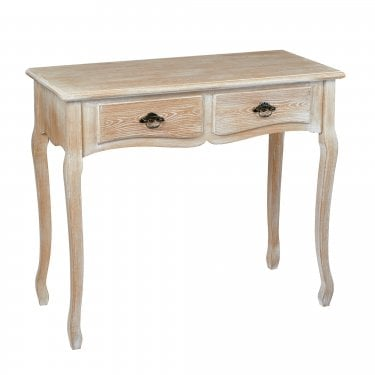 Provence Weathered Oak 2 Drawer Console Table