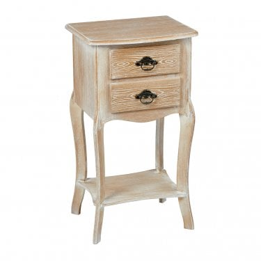 Provence Weathered Oak 2 Drawer End Table