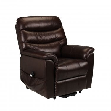 Pullman Brown Faux Leather Recliner Chair