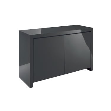 Puro High Gloss Charcoal 2 Door Sideboard