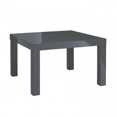 Puro High Gloss Charcoal End Table