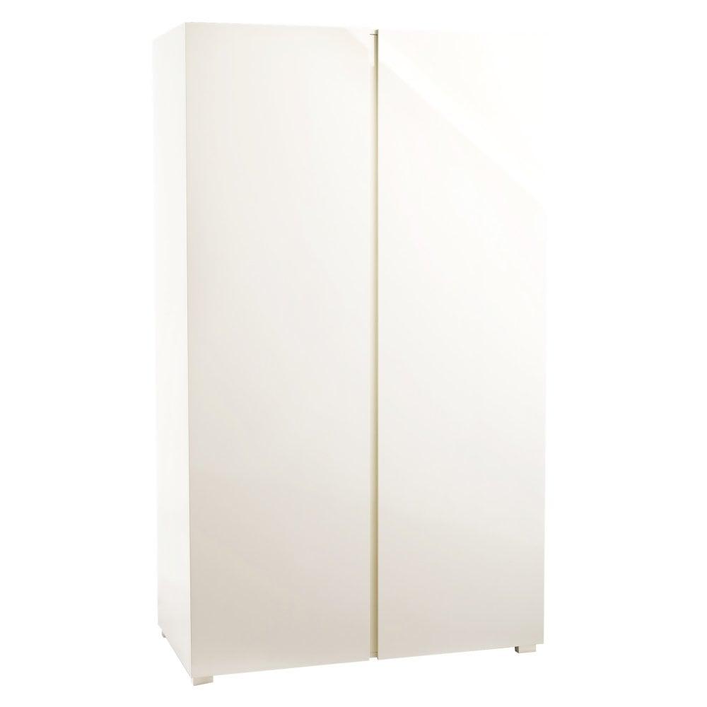 8245de4f597 LPD Furniture Puro High Gloss Cream 2 Door Wardrobe