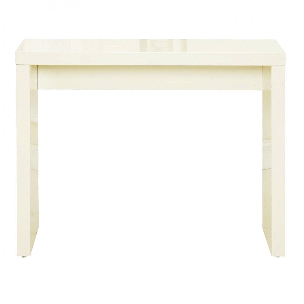640d8a1128d LPD Furniture Puro High Gloss Cream Console Table