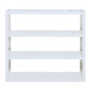 Puro High Gloss White Bookcase