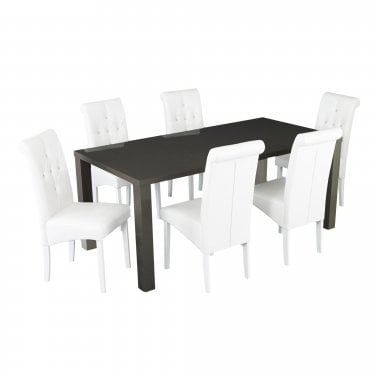 Puro Small Charcoal High Gloss Dining Table