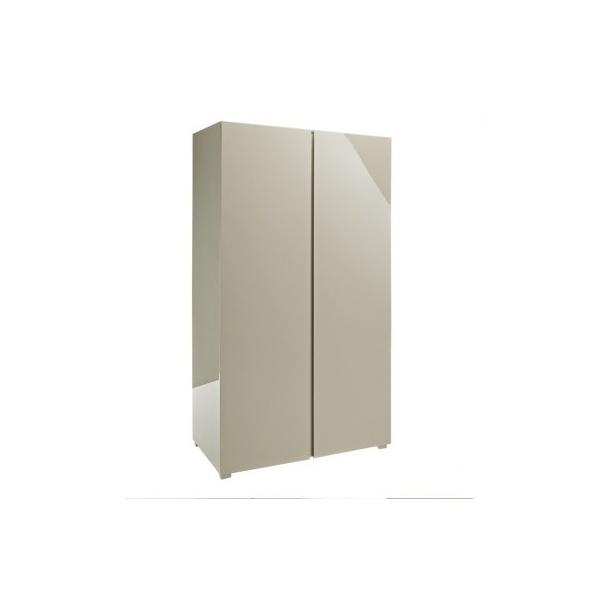 lpd furniture puro stone high gloss 2 door wardrobe. Black Bedroom Furniture Sets. Home Design Ideas