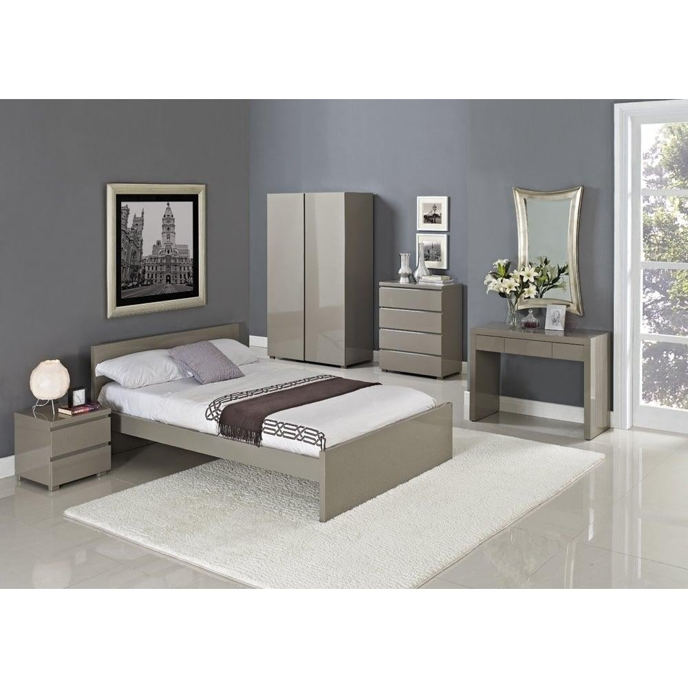 lpd furniture puro stone high gloss bed leader stores. Black Bedroom Furniture Sets. Home Design Ideas
