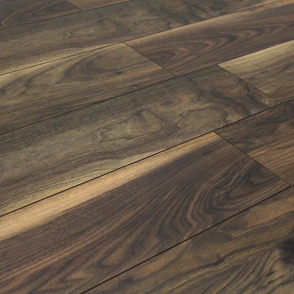 Balterio quattro 12mm black walnut ac4 laminate flooring for Laminate flooring stores