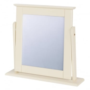 Quebec Painted Soft Cream Mirror