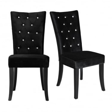 Radiance Black Dining Chair Pair