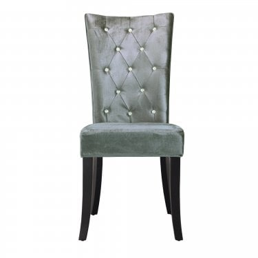 Radiance Silver Dining Chair Pair