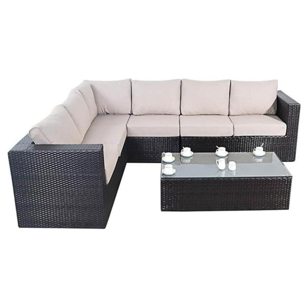 Port Royal Garden Furniture Luxe Large Corner Sofa Set At