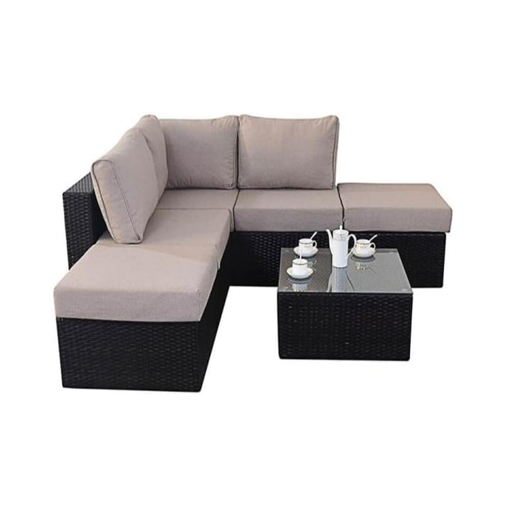 Port Royal Garden Furniture Luxe Small Corner Sofa Set