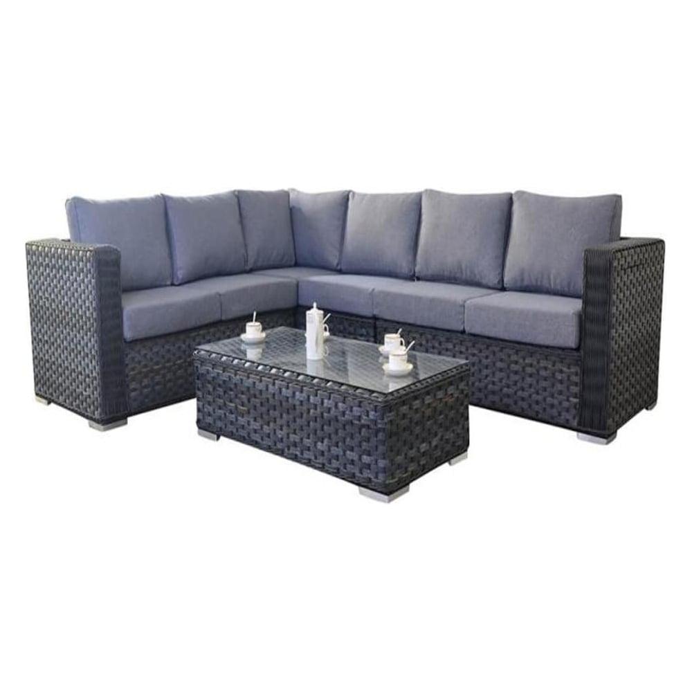 Port Royal Garden Furniture Platinum Grey Large Corner