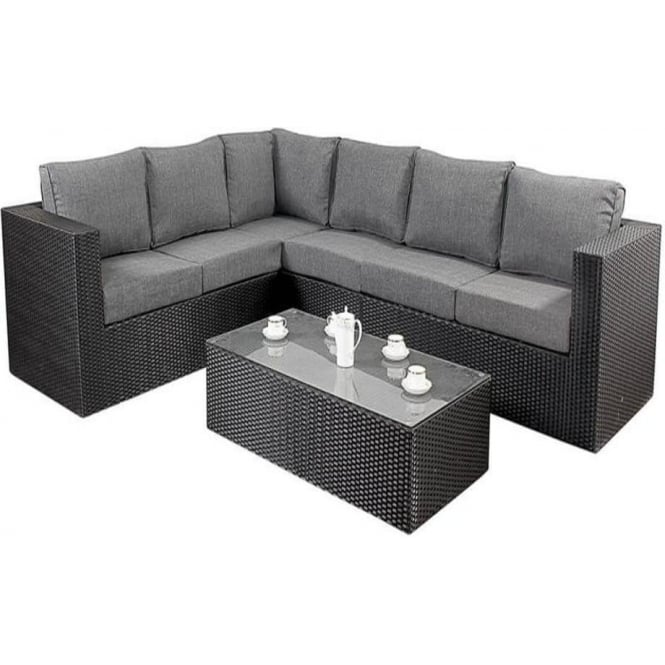 Port Royal Garden Furniture Prestige Black Large Corner
