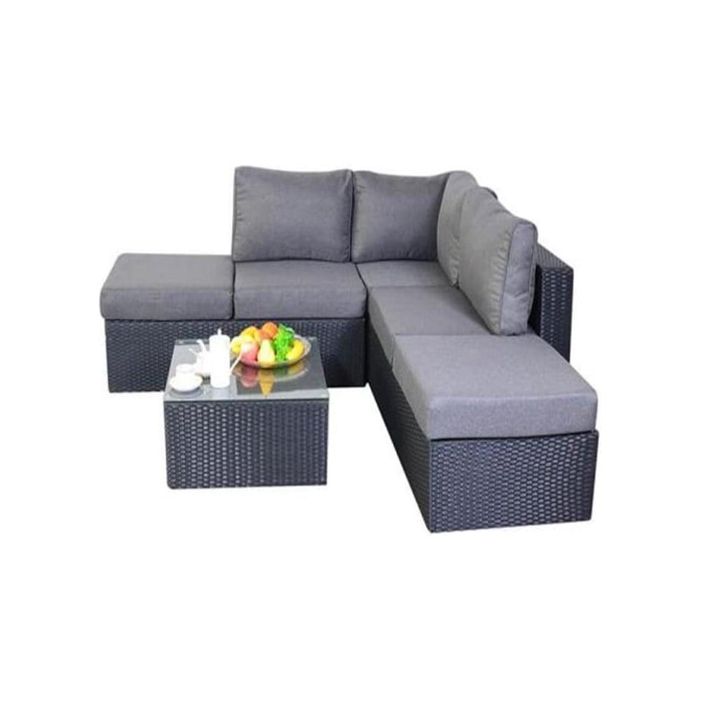 Port Royal Garden Furniture Prestige Black Small Corner