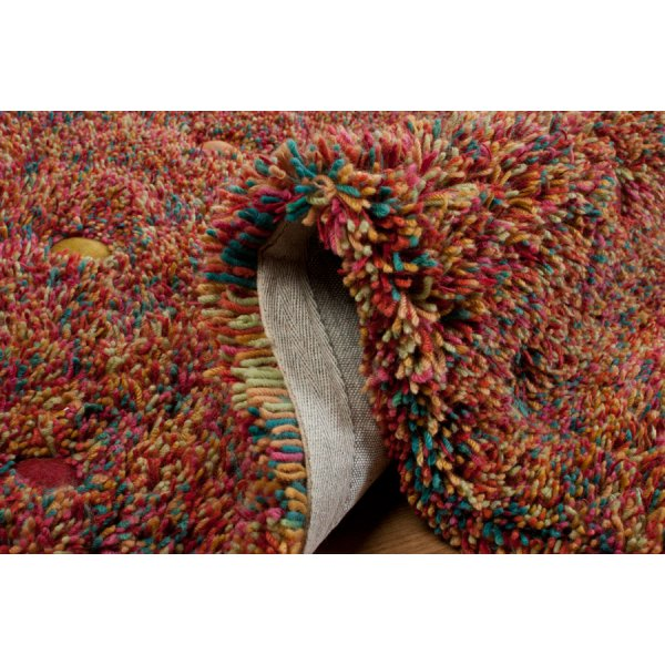 Real Rug Stone Garden Multicoloured Wool Rectangular