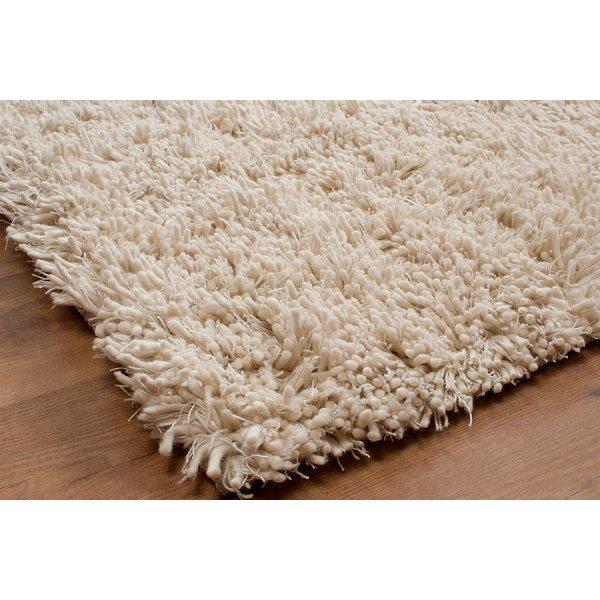 Tentakel Natural White Rectangular Wool Rug