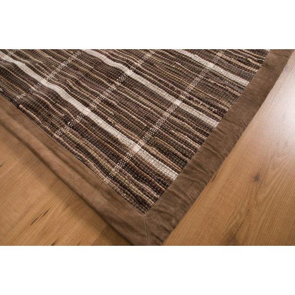 Real Rug Trasmatta Brown Cotton Rectangular Modern Rug