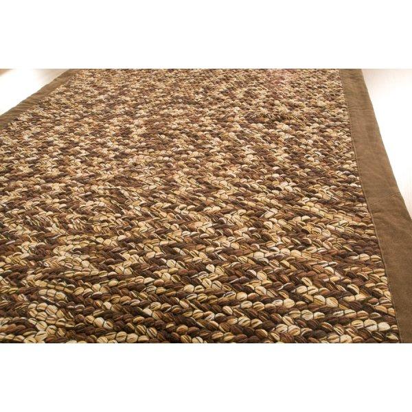 Real Rug Trasmatta Brown Multicoloured Cotton Rectangular