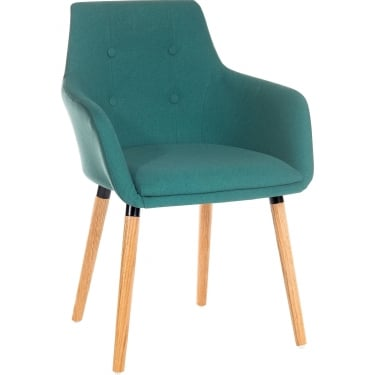Reception Jade Chair Pair with Oak Legs
