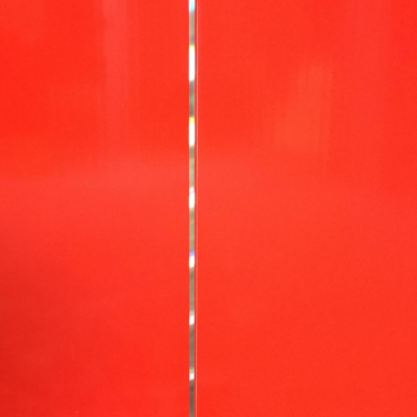 Red with Silver Strip PVC Plastic Cladding