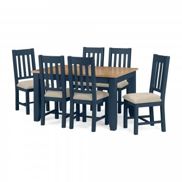 Richmond Dining Set Of 6, Midnight Blue