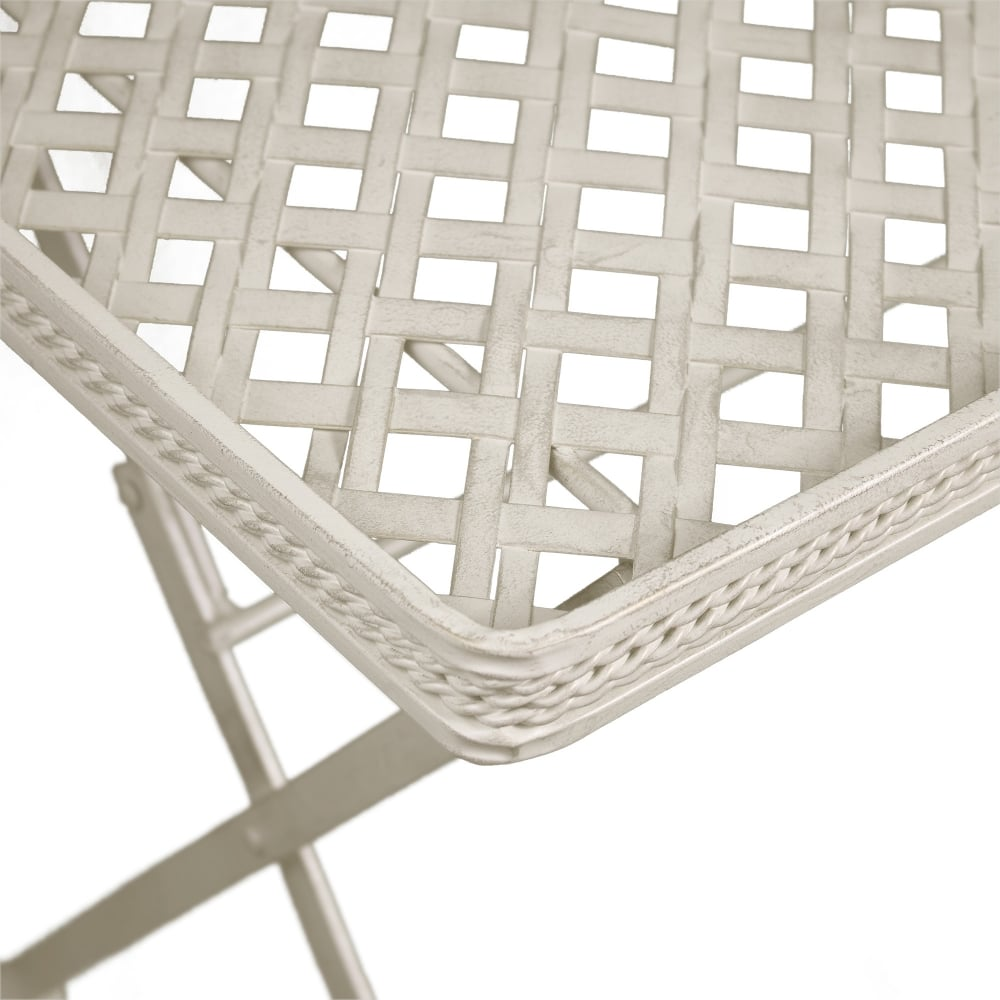 ... Richmond Garden Cassis Matt Cream Metal Folding Patio Butleru0027s Tray  Side Table
