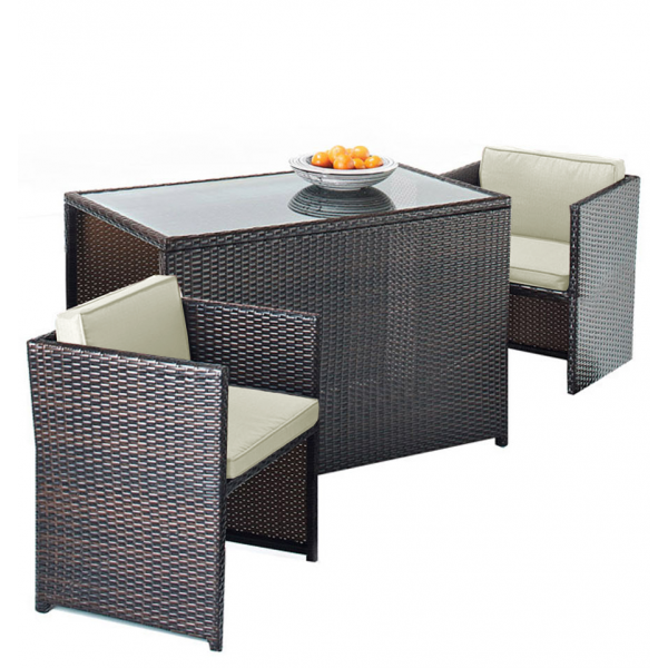 2 Seater Rattan Cube Set Available At Leader Stores