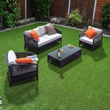 Richmond Garden Furniture Verano Voyage 4 Piece Rattan Sofa Set