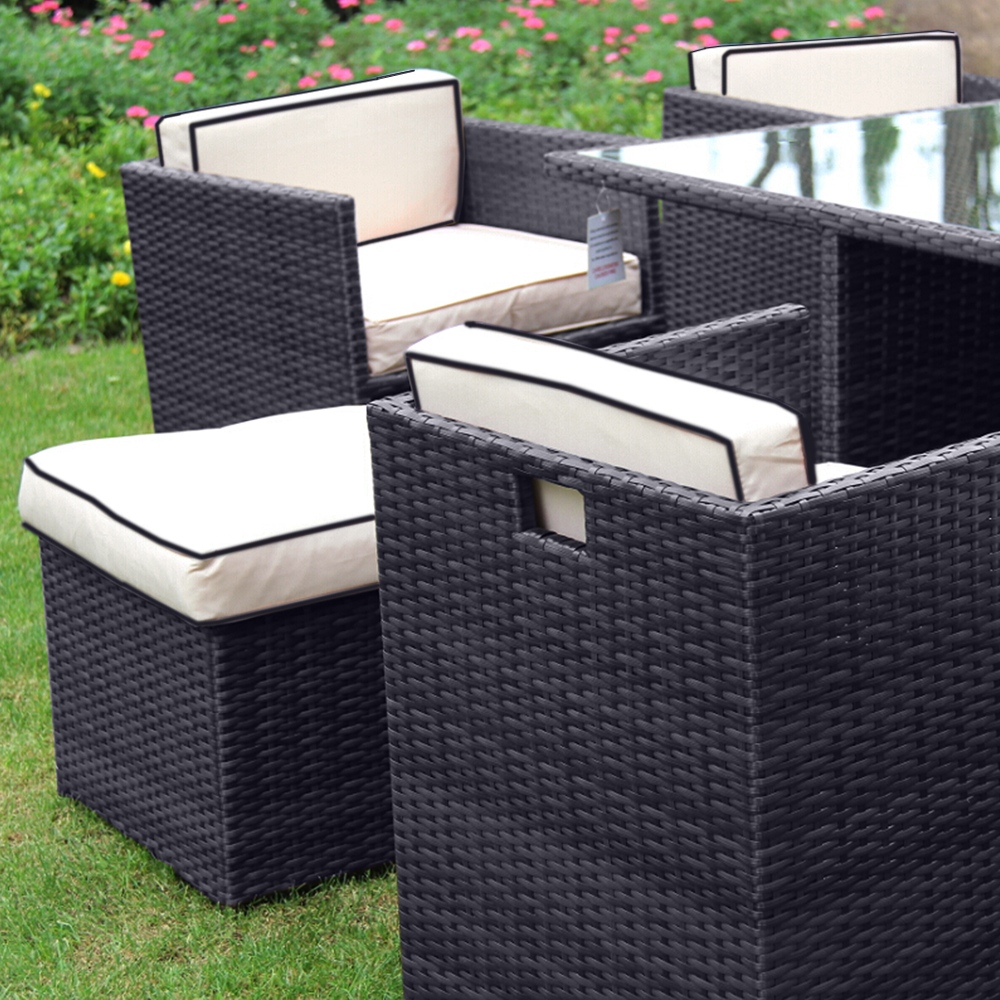rattan garden furniture 4 seater