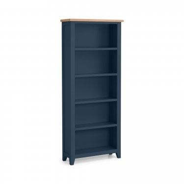 Richmond Tall Bookcase, Midnight Blue